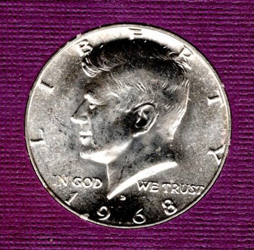 1968 D Kennedy Half Dollars - #4