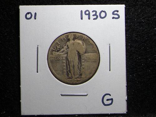 1930 S Standing Liberty Quarter