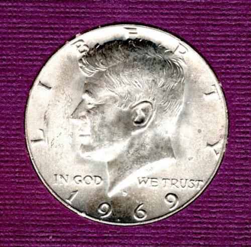 1969 D Kennedy Half Dollars - #4
