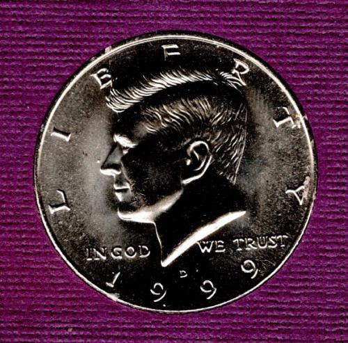 1999 D Kennedy Half Dollars -#3