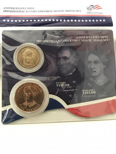2009 Presidential $1 and First Spouse Medal Set- Zachary and Margaret Taylor