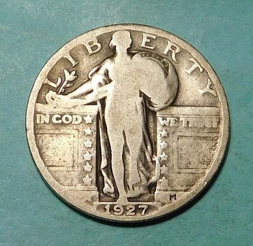 1927 P Standing Liberty Quarter Dollar,