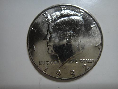 1992-D Kennedy Half Dollar MS-64 (Near Gem)