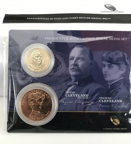 2012 Presidential $1 and First Spouse Medal Set - Grover and Frances Cleveland