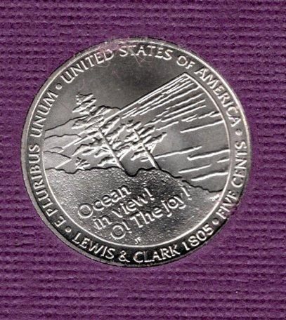 2005 p Jefferson Nickel: Ocean in View - #5
