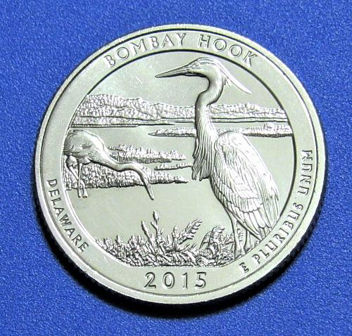 2015-S 25 Cents Bombay Hook Delaware National Park America the Beautiful Quarter