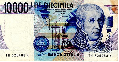 1984 ITALY 10,000 LIRE BANKNOTE