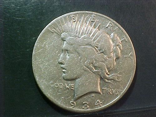 1934 S PEACE DOLLAR      aa52