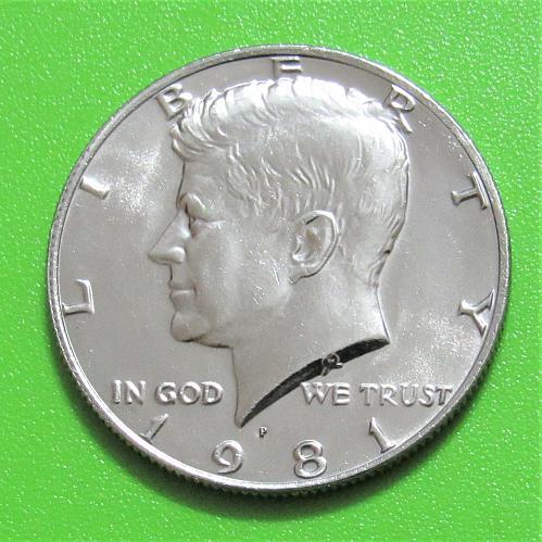 1981-P 50 Cents - Kennedy Half Dollar