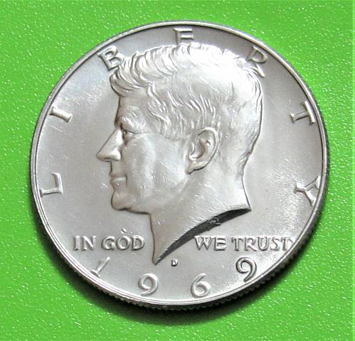 1969-D 50 Cents - Kennedy Silver Half Dollar - 40% Silver - Uncirculated
