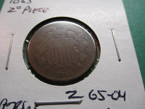 1865  AG3 Two Cent Piece.  Item: 2 65-04.