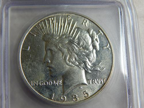 1935-S Peace Dollar Certified MS-61