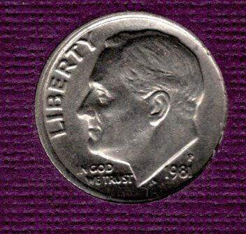 1981 P Roosevelt Dimes - #3