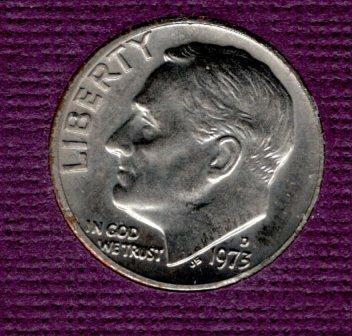 1973p Roosevelt Dime - #3