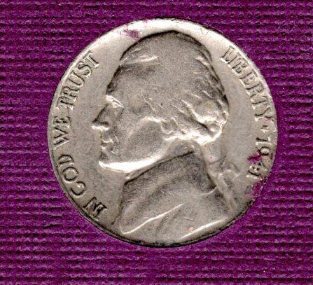 1941 p, Jefferson Nickels -3
