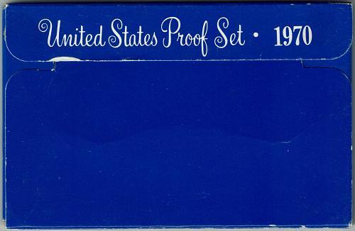 1970 S proof set, brilliant 5 coin set