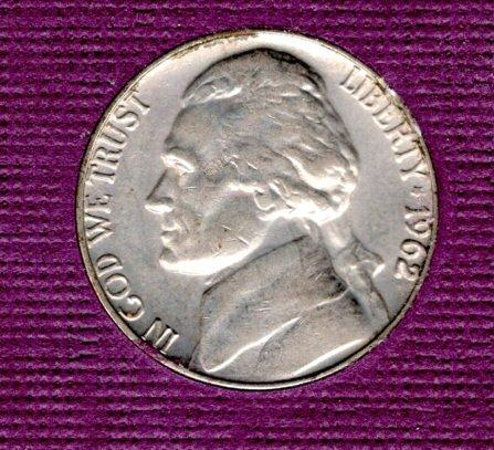 1962d Jefferson Nickels -#