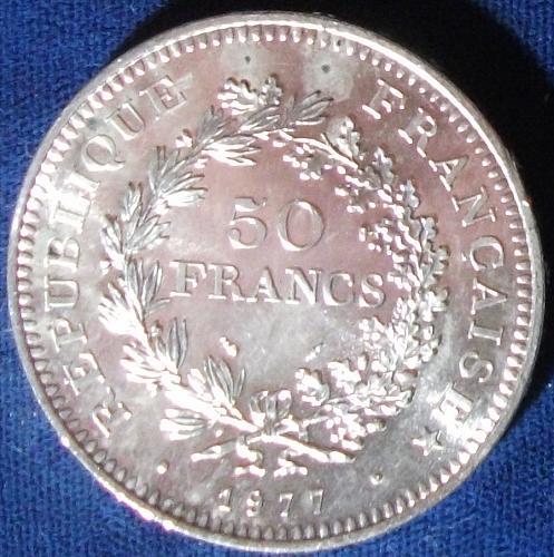1977 France 50 Francs BU