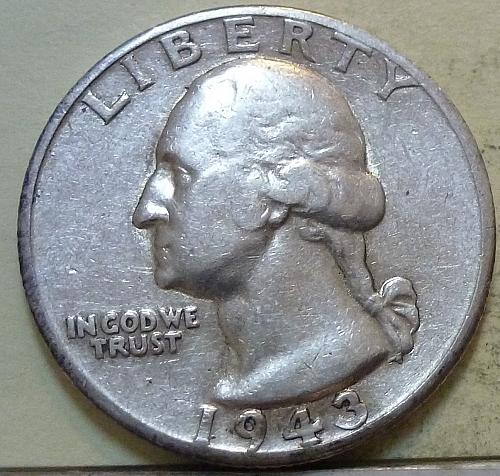 1943-D GRADES EXTRA FINE Washington Quarter XF  # S-29 )