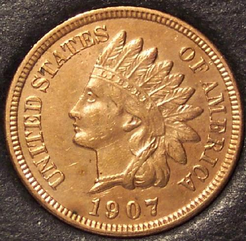 1907 Indian Head Cent CHOICE RED #0084