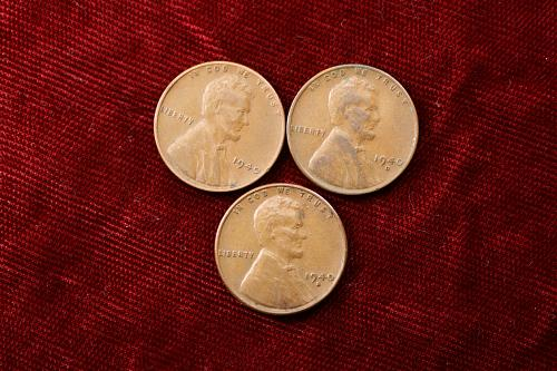 1940 P D S Lincoln cent