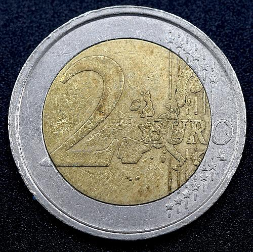 2002 Italy 2 euros - Portrait of Raphael of Dante Alighieri.   V1P1R3