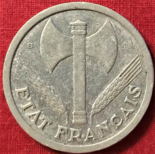 France 1944 B - 2 Francs [KM 904.2 - Vichy]