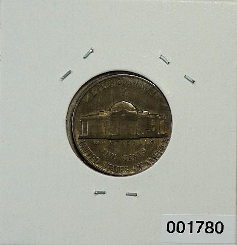 1944 P Jefferson Nickel - 35% Silver - WWII