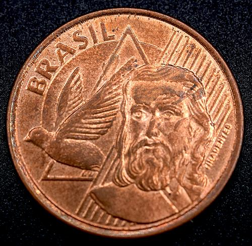2012 Brazilian 5 Centavos almost uncirculated