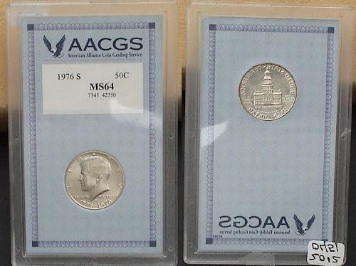 1976 S United States Half Dollar AACGS MS64