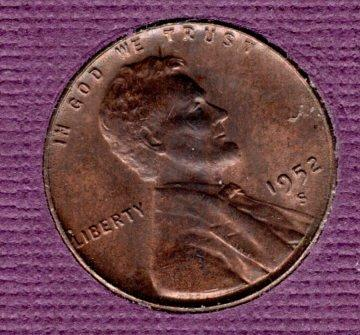 1952 S Lincoln Wheat Cent Small Cents - 3