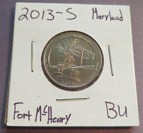 2013 S Fort McHenry America The Beautiful Quarter
