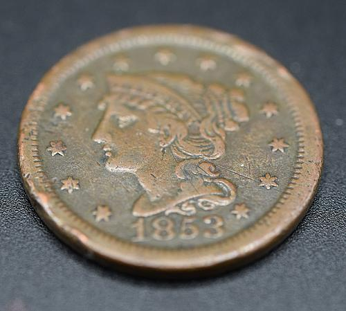 1853 Braided Hair Liberty Head Large Cents EF-45.  V1P1R5