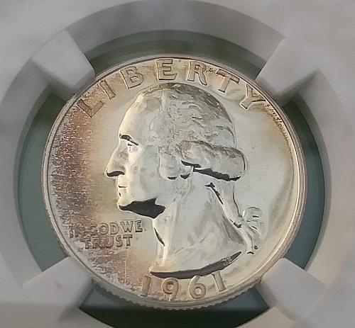 1961 Washington Silver 25c NGC Proof 65
