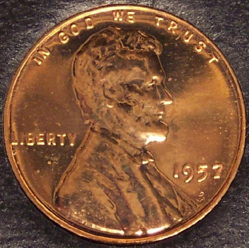 1957 PROOF Lincoln Wheat Back Penny #0220