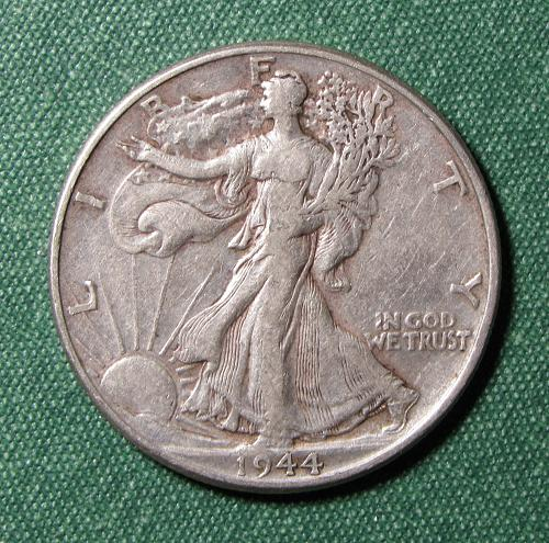 1944P Walking Liberty Half Dollar