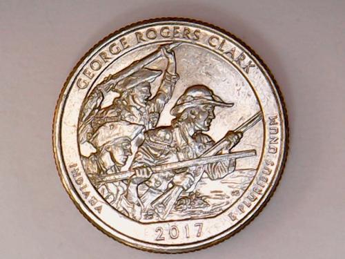 2017 P George Rogers Clark Quarters. CUD on rifle.