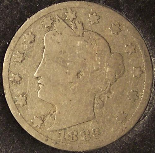 """1883 Liberty Head """"V"""" Nickel """"With Cents"""" G #0244"""