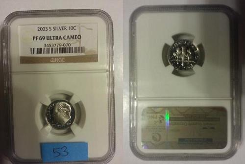 2003-S NGC PF69 Ultra Cameo Silver Roosevelt Dime