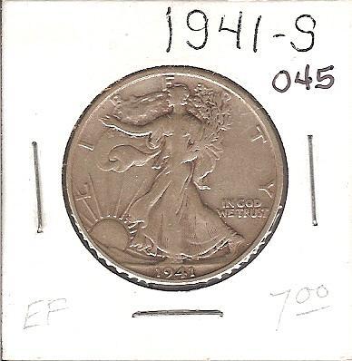 1941-S Walking Liberty Half