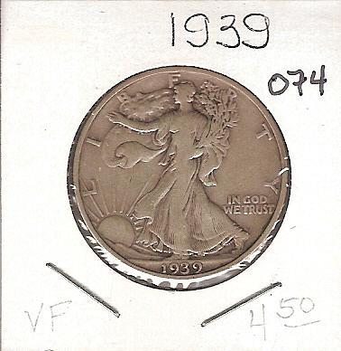 1939 Walking Liberty Half
