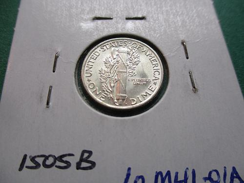 1941 AU58 Mercury Dime.  Item: 10 M41-01.