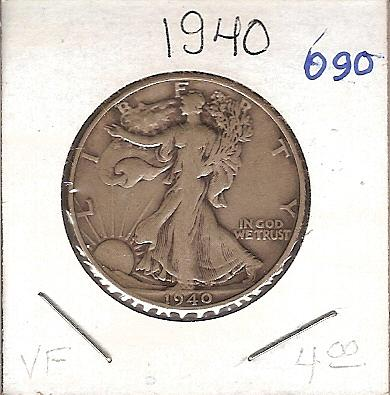1940 Walking Liberty Half
