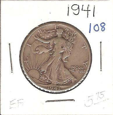 1941 Walking Liberty Half