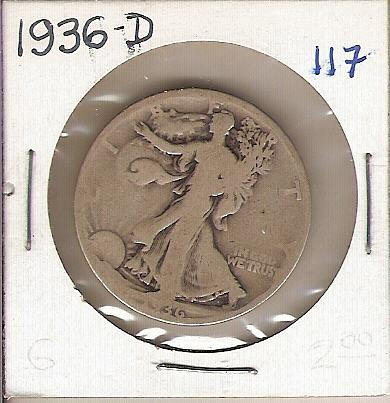 1936-D Walking Liberty Half
