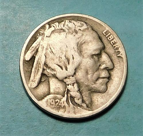 1924 P Buffalo//Indian Head Nickel