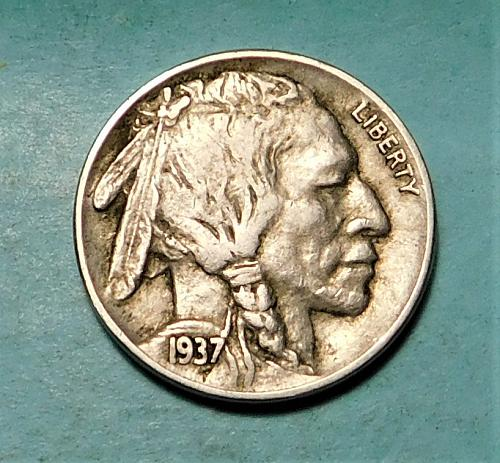 1937 S Buffalo/Indian Head Nickel