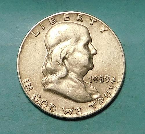1959 D FRANKLIN / LIBERTY BELL HALF DOLLAR