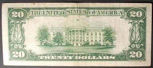 Series of 1934A $20 FRN FR#2055-C Philadelphia F-VF