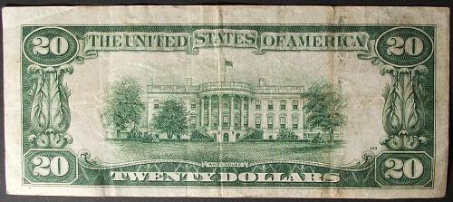 Series of 1934 $20 FRN FR# 2054-C Philadelphia F-VF